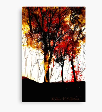 Autumn Cascade....October In Ink Canvas Print