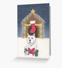 A Gift From Santa Paws Greeting Card