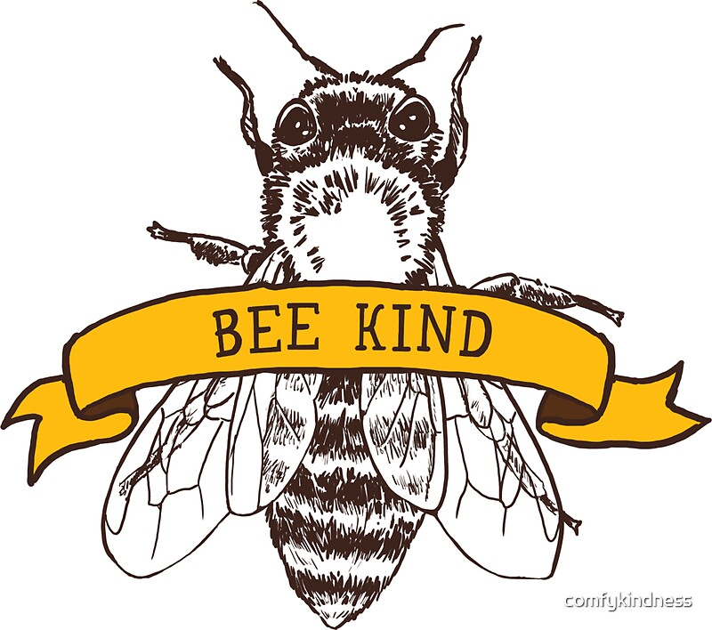 Quot Bee Kind Quot Stickers By Comfykindness Redbubble