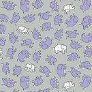 Elephants - cute baby pattern by Cecca Designs by Cecca-Designs
