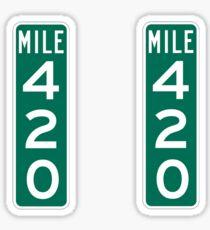 420 Mile Marker Sticker