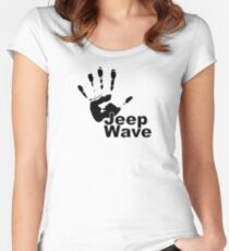 Jeep Wave black color design Women's Fitted Scoop T-Shirt
