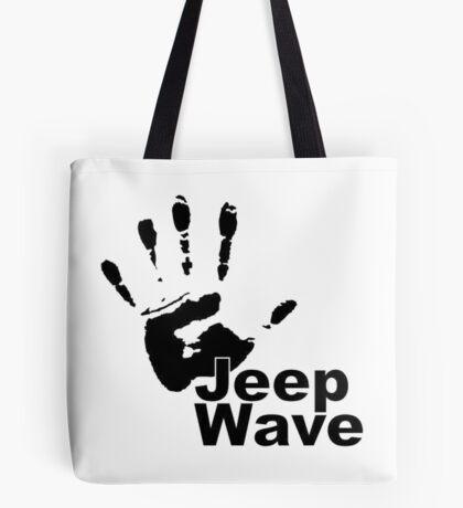 Jeep Wave black color design Tote Bag