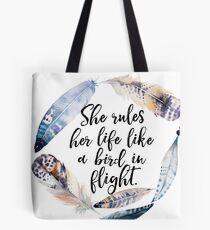 Bird in Flight - Rhiannon Lyrics Tote Bag