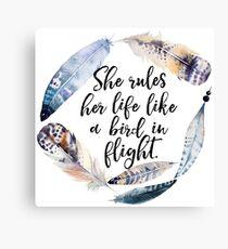 Bird in Flight - Rhiannon Lyrics Canvas Print