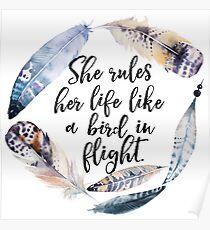 Bird in Flight - Rhiannon Lyrics Poster