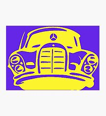 Yellow MBZ Car Artwork Photographic Print