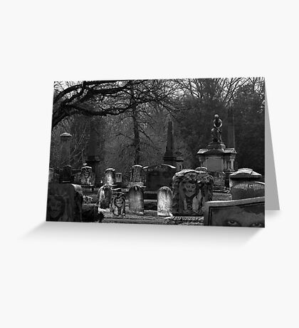 I see dead people Greeting Card