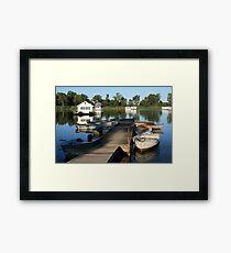 Erie Houseboats Framed Print
