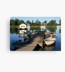 Erie Houseboats Canvas Print