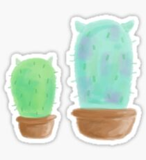 Mike and Sully, Cactus, Monsters, Inc Sticker