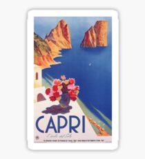 Weinlese-Capri Italien Reise-Plakat Sticker