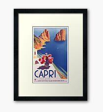 Weinlese-Capri Italien Reise-Plakat Gerahmtes Wandbild
