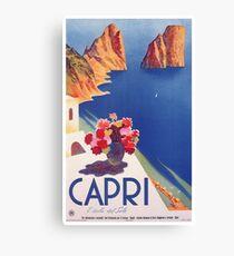 Weinlese-Capri Italien Reise-Plakat Leinwanddruck