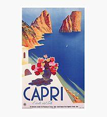 Vintage Capri Italy Travel Poster Photographic Print