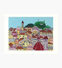 Corfu Town (Small) Art Print