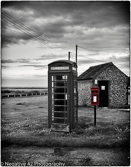 Red Post Box & Telephone Box by Negative42