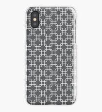 Grey retro squares iPhone Case/Skin