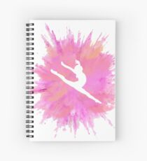 Cuaderno de espiral Silueta de gimnasia Pink Explosion