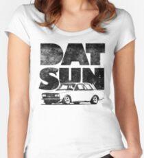 Datsun 510 Fett Tailliertes Rundhals-Shirt