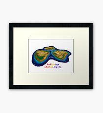 Schnitzel Archipelago Framed Print