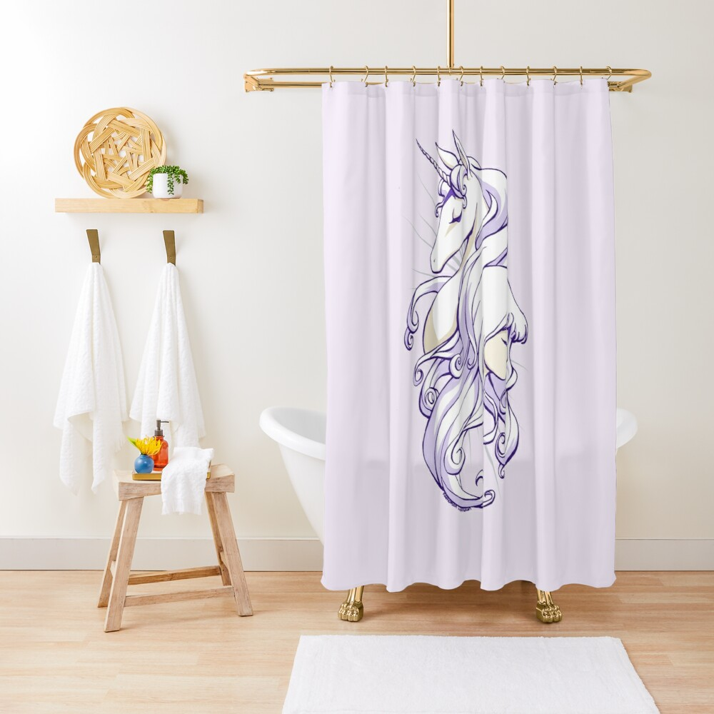 She Is The Last Shower Curtain