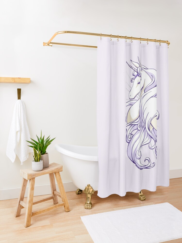 Alternate view of She Is The Last Shower Curtain