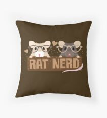 RAT NERD (Self proclaimed expert about RATS) Throw Pillow