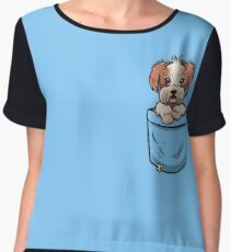 Pocket Shih Tzu Women's Chiffon Top