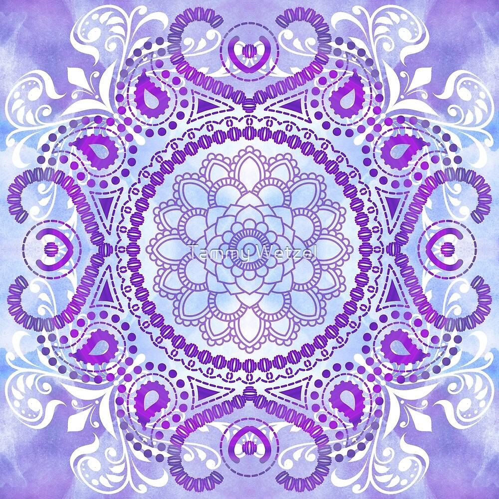 Purple Lotus Mandala by Tammy Wetzel