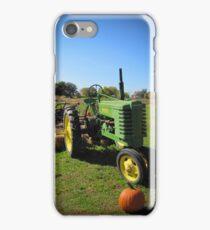 John Deere Tractor Harvest Time Photograph iPhone Case/Skin