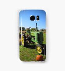 John Deere Tractor Harvest Time Photograph Samsung Galaxy Case/Skin