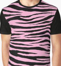 0351 Lavender Pink Tiger Graphic T-Shirt