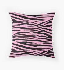 0351 Lavender Pink Tiger Throw Pillow
