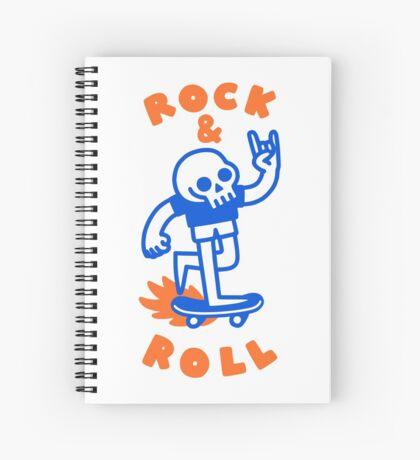 ROCK & ROLL SKULL Spiral Notebook