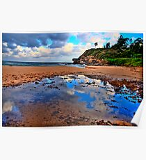 Puddles - Warriewood Beach - The HDR Series Poster