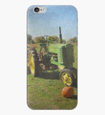 John Deere Tractor Harvest Time Photograph Textured iPhone Case
