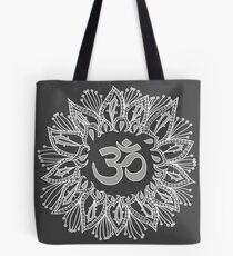 Om mandala in white Tote Bag