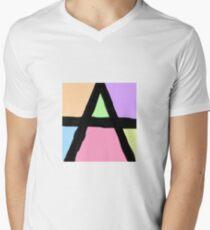 A stylised  Men's V-Neck T-Shirt