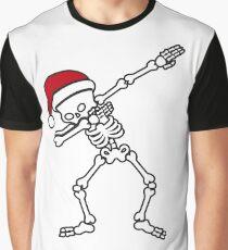 Dabbing Skeleton Halloween Xmas Zombie Dab Dance  Graphic T-Shirt