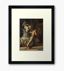 Samson and the Philistines 1863 Carl Heinrich Bloch Framed Print