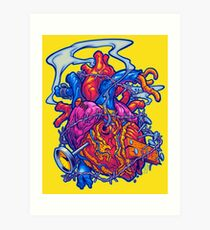 BUSTED HEART Art Print