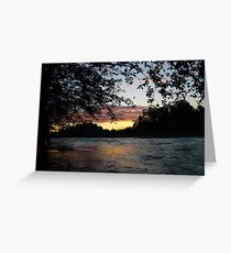 SUNSET AT THE CARBON RIVER Greeting Card