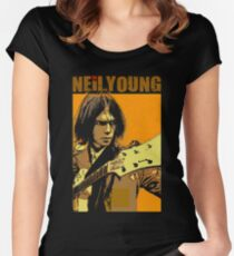 Neil young design Women's Fitted Scoop T-Shirt