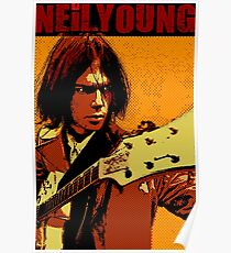 Neil young design Poster
