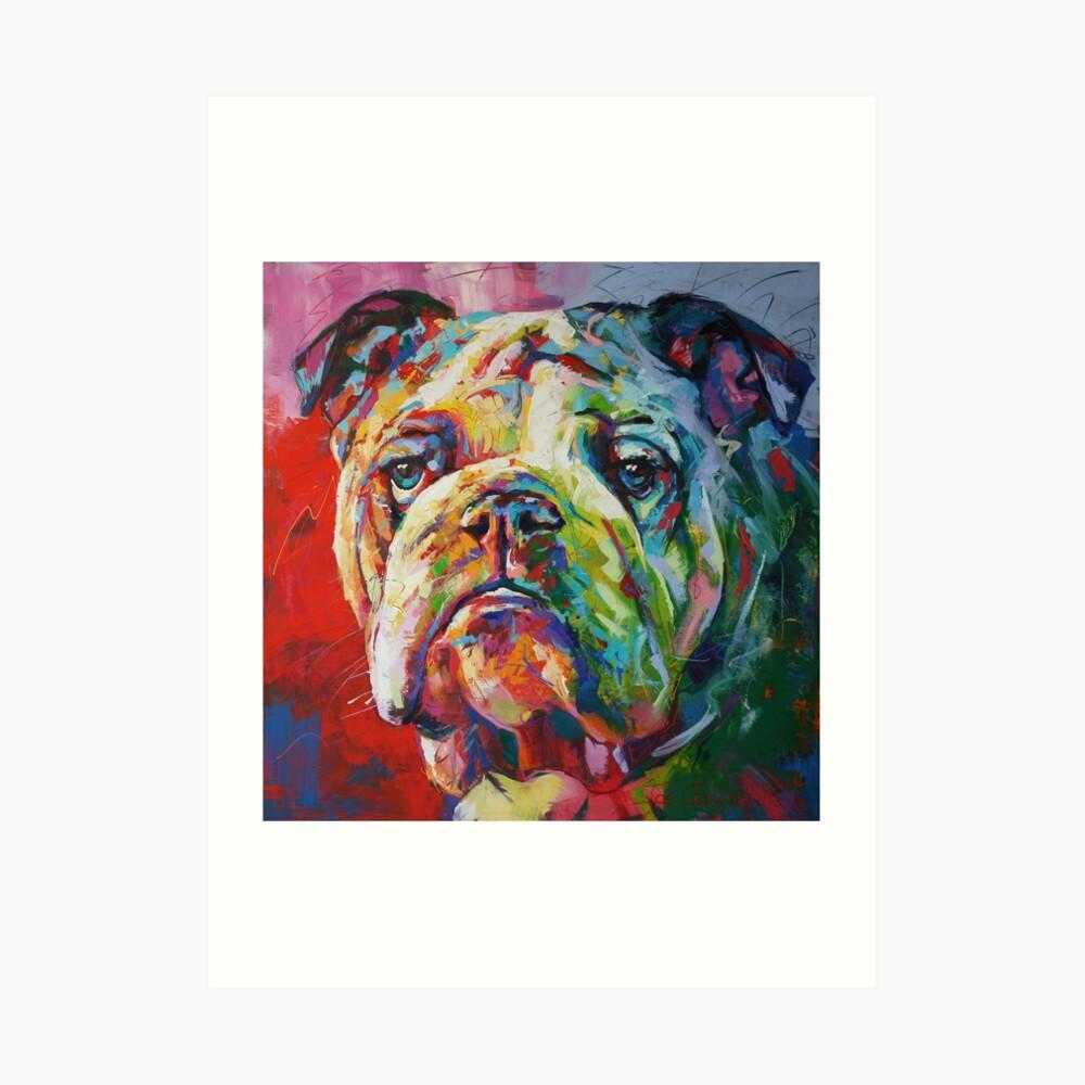 Englische Bulldogge Kunstdruck