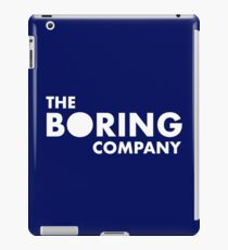 Infrastructure And Tunnel Construction Company The Boring Company iPad Case/Skin