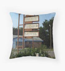 The Blue Top Motel  Throw Pillow