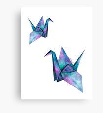 galaxy paper cranes Canvas Print
