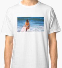 Hot Bikini Surfer Babe Classic T-Shirt